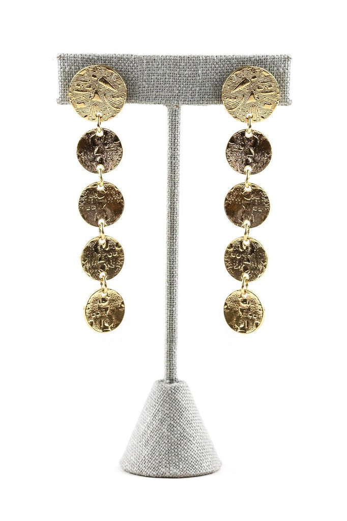 80's__Monet__Coin Drop Earrings
