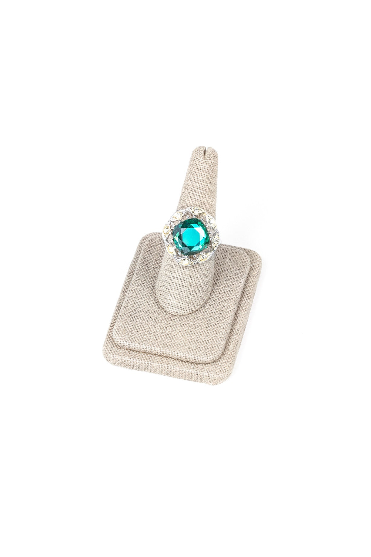 70's__Sarah Coventry__Adjustable Emerald Ring
