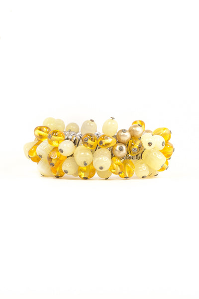 50's__Vintage__Yellow Jingle Expansion Bracelet