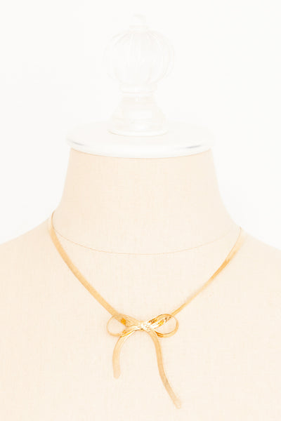 80's__Avon__Bow Necklace