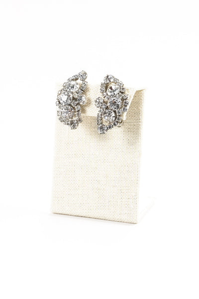Vintage Rhinestone Wrap Clip-on Earrings