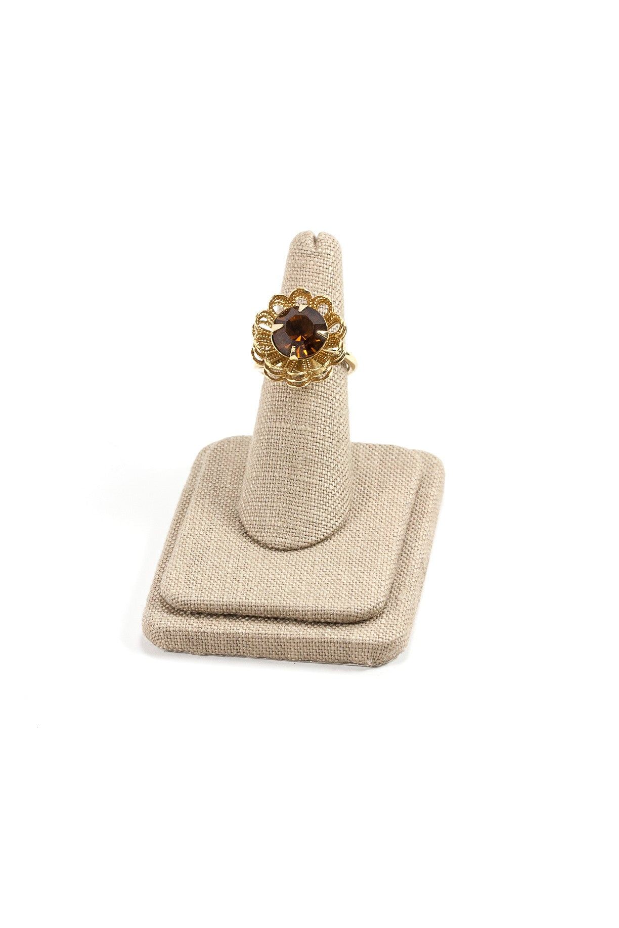 50's__Sarah Coventry__Adjustable Rhinestone Ring
