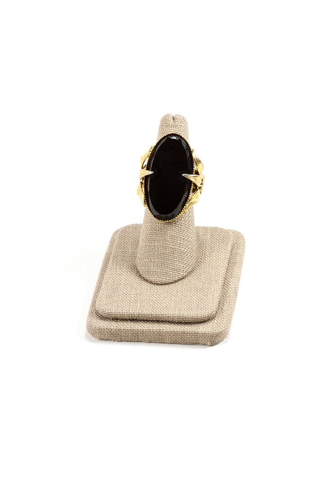 Vintage Black Stone Cocktail Statement Ring