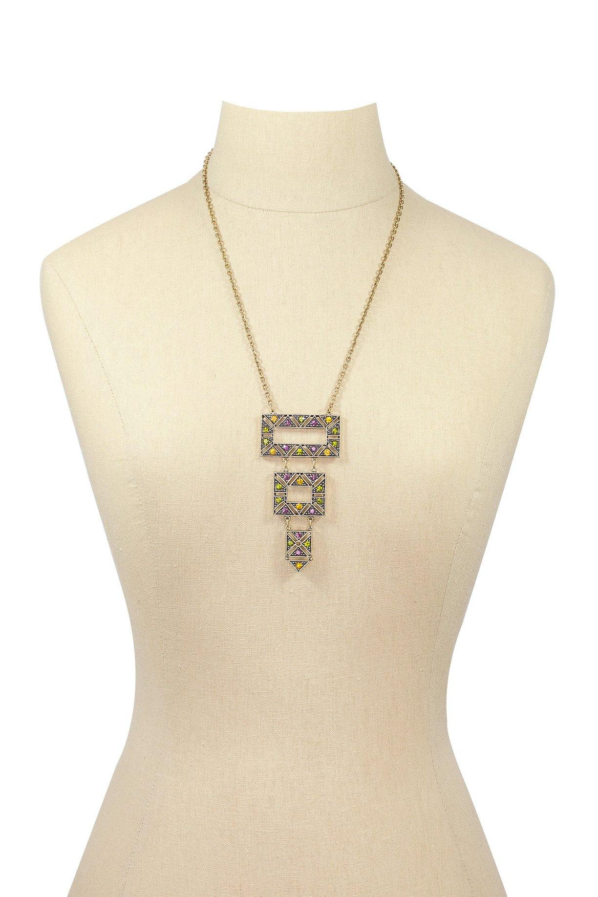 70's__Emmons__Embellished Pendant Necklace
