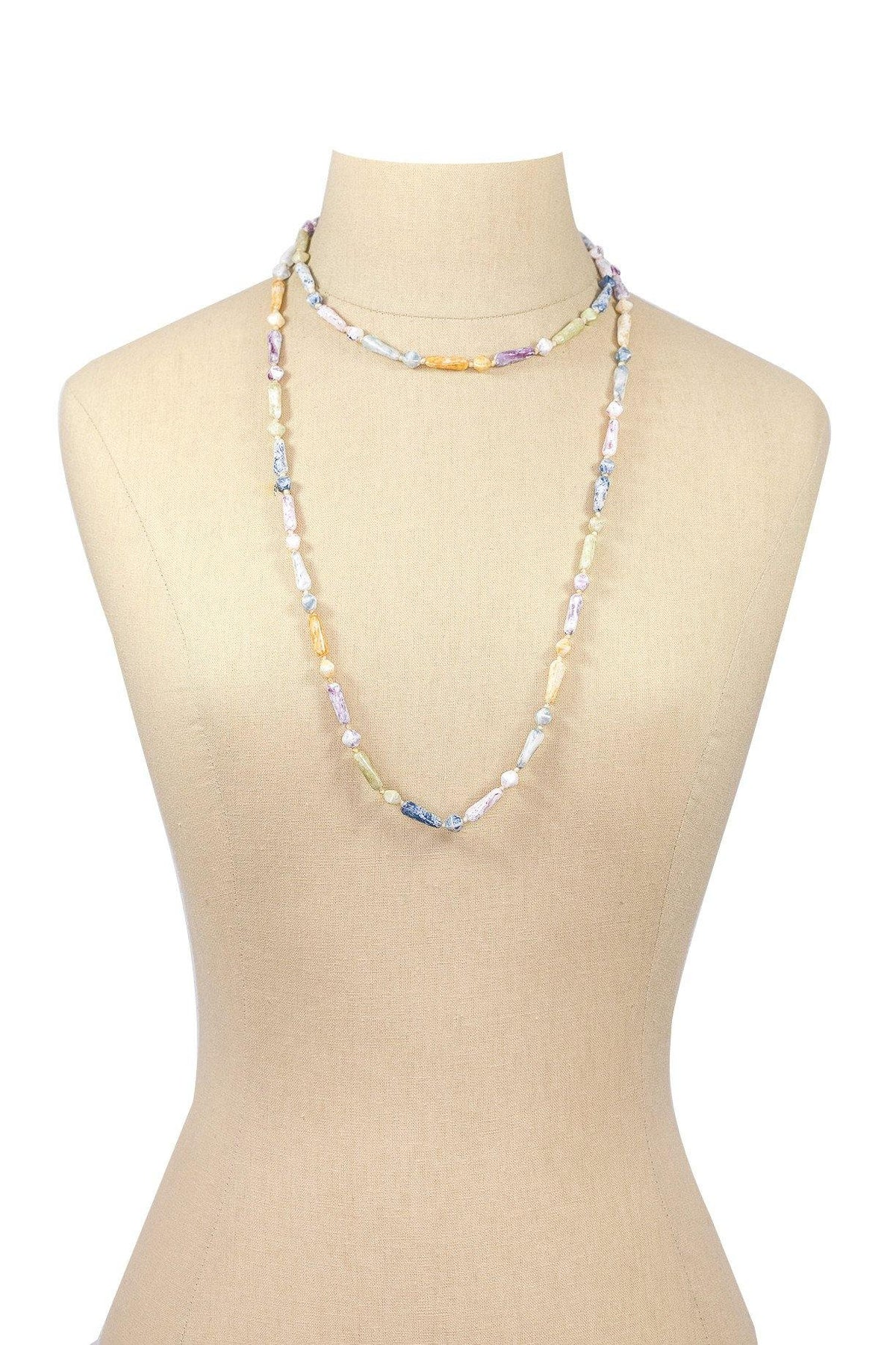 60's Vintage Stone Layering Necklace