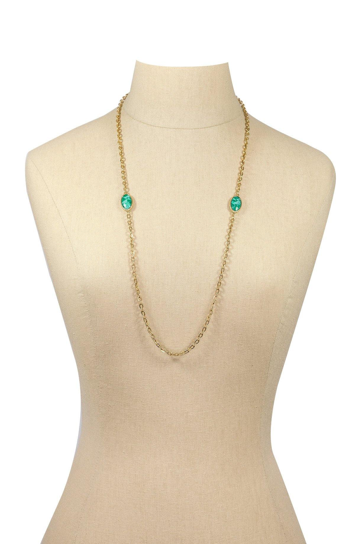 70's__Emmons__Stone Layering Necklace