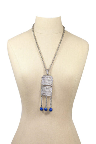 60's__Celebrity__Textured Pendant Necklace