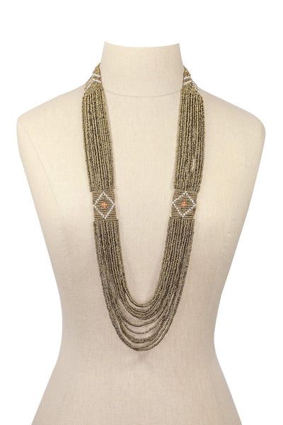 70's__Vintage__Seed Bead Necklace