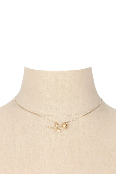 70's__Monet__Dainty Rose Necklace