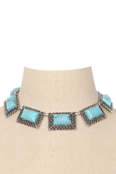 80's__Vintage__Statement Turquoise Necklace