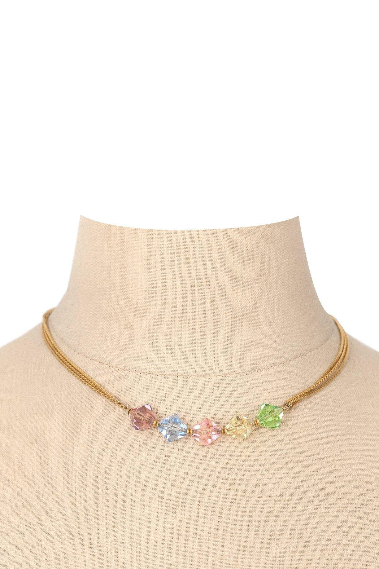 90's__Anne Klein__Beaded Necklace