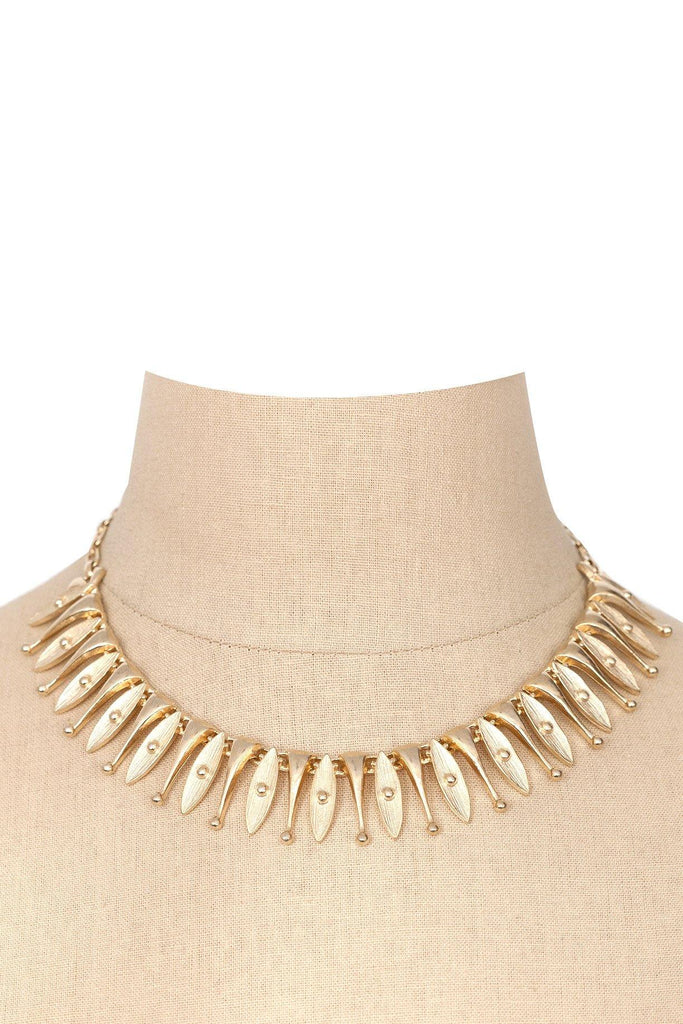 60s__Sarah Coventry__Gold Fringe Necklace