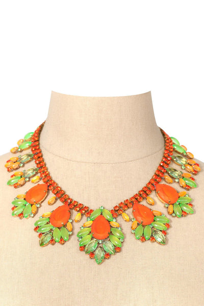 60's__Vintage__Embellished Statement Necklace