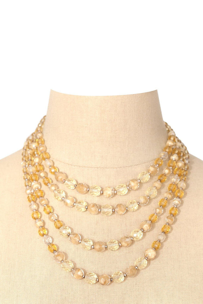 50's__Vintage__Beaded Multi-Strand Necklace