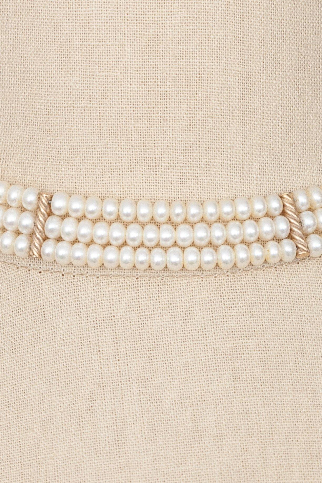 80's__Vintage__Pearl Choker Necklace