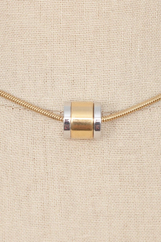 80's__Trifari__Cylinder Pendant Necklace