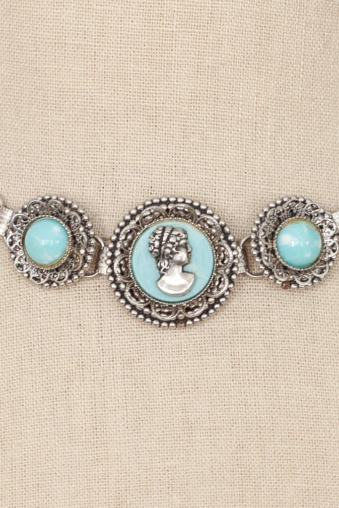 50's__Vintage__Cameo Choker Necklace