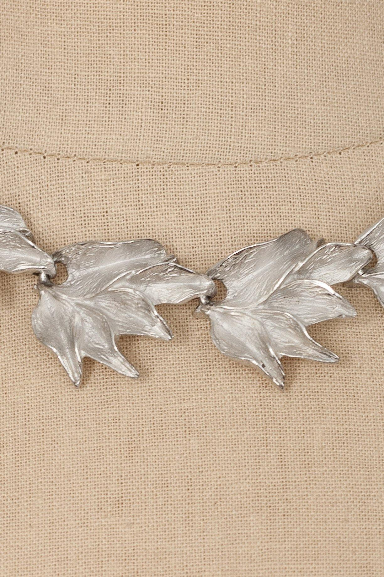 60's__D'Orlan__Leaf Necklace
