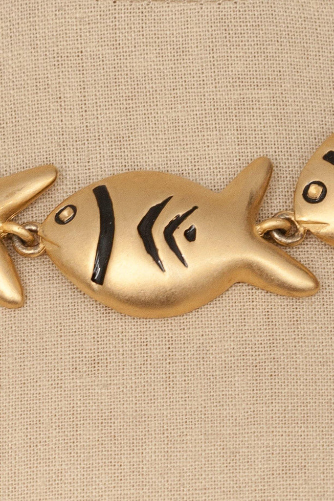80's__Vintage__Fish Statement Necklace