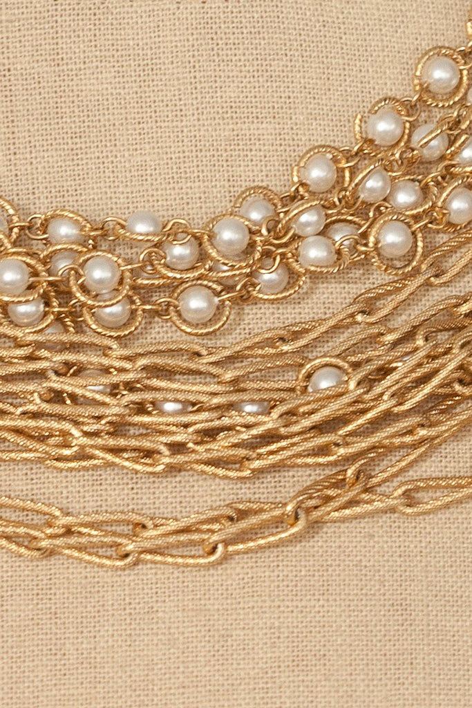 60's__Vintage__Multi-Chain Pearl Necklace