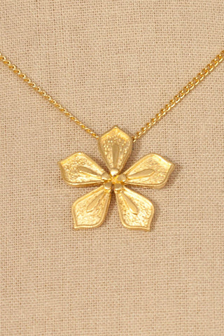 70's__Vintage__Floral Pendant Necklace