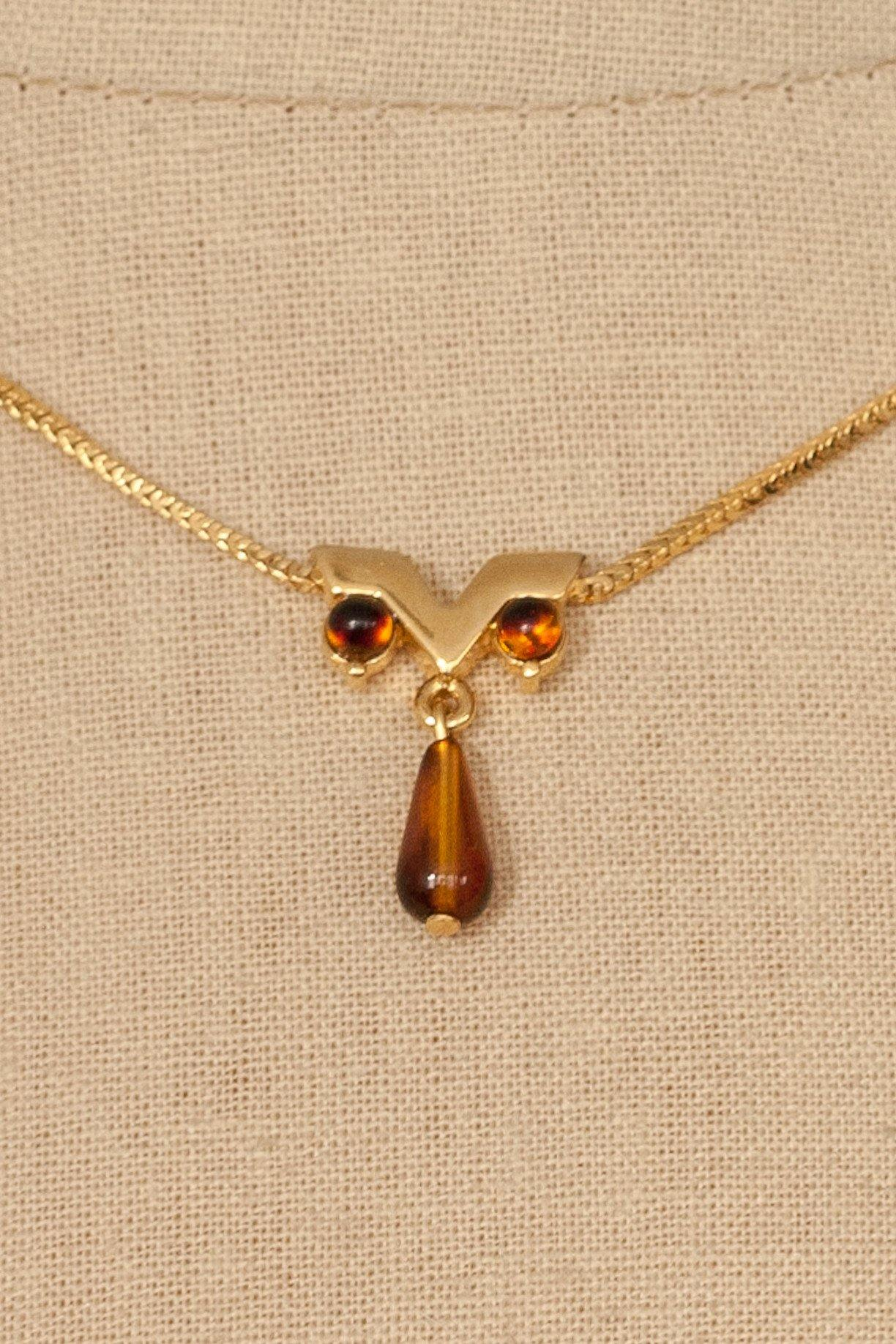 80's__Monet__Dainty Pendant Necklace