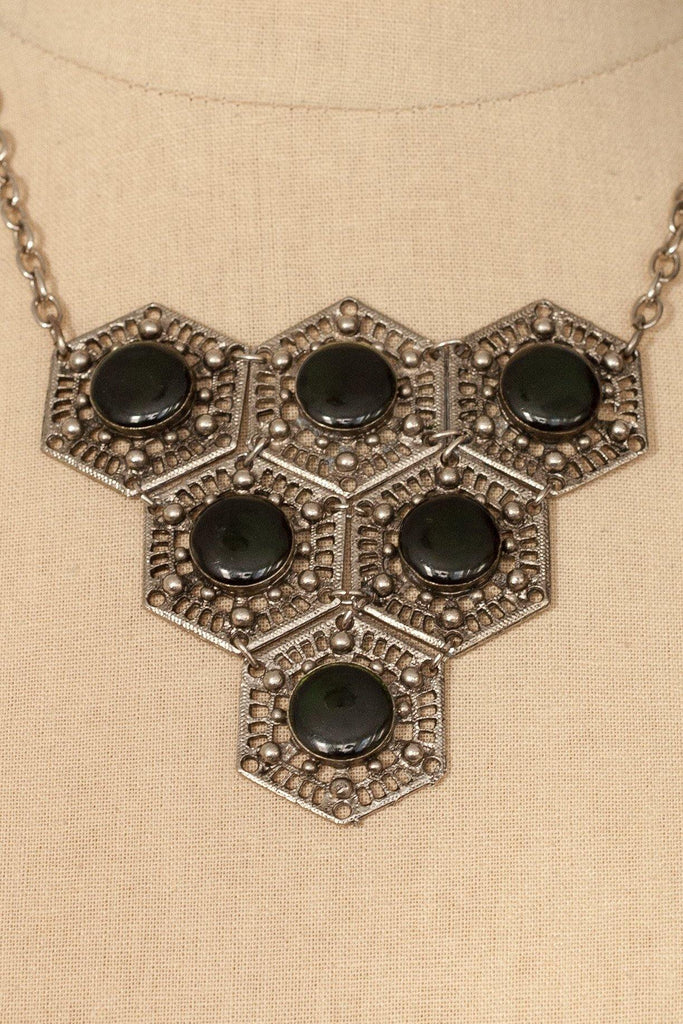 50's__Vintage__Embellished Statement Necklace