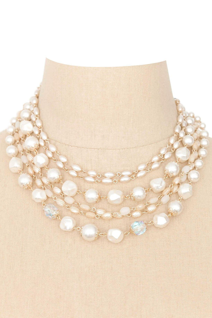 50's__Vintage__Multi-Chain Pearl Necklace
