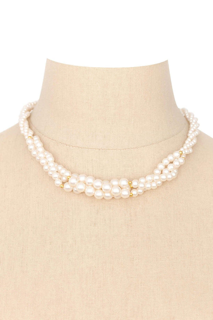 80s__Vintage__Multi-Strand Pearl Necklace