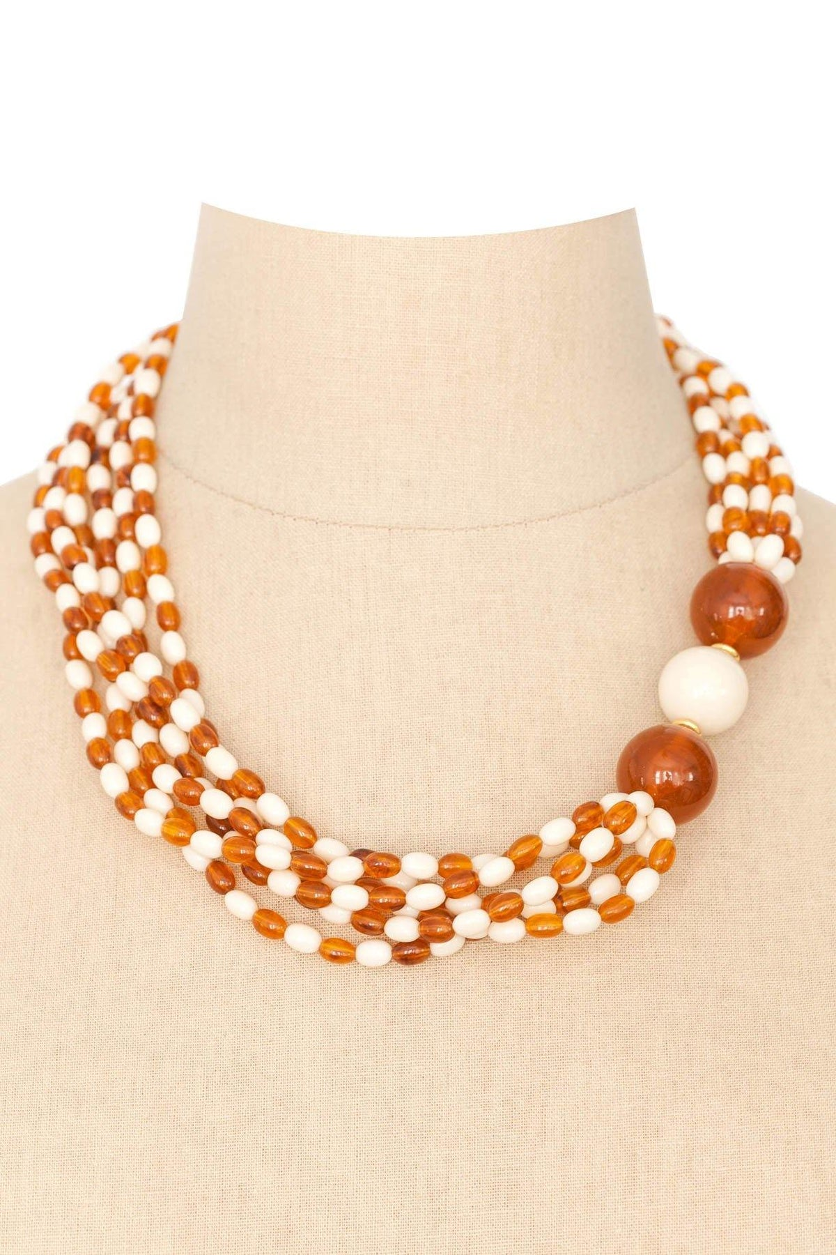 60's Vintage Beaded Multi-Strand Necklace