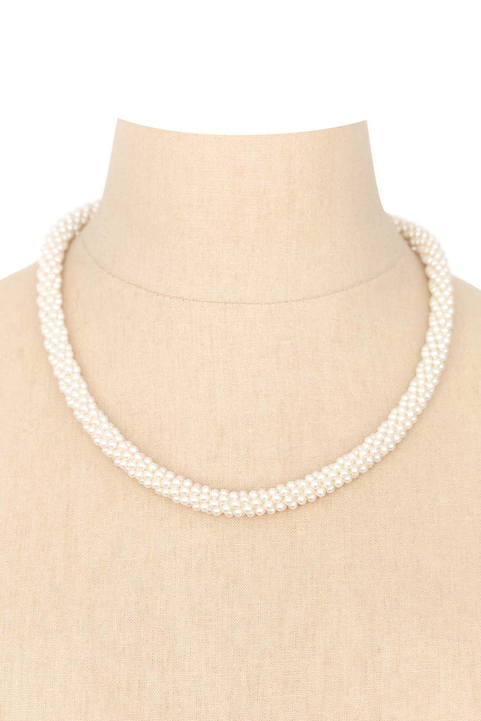 50's__Vintage__Pearl Cord Necklace