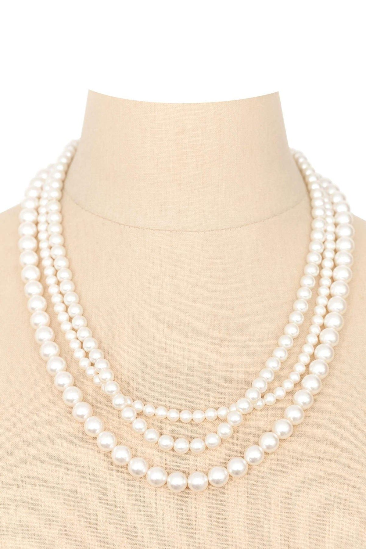 50's Vintage Multichain Pearl Necklace