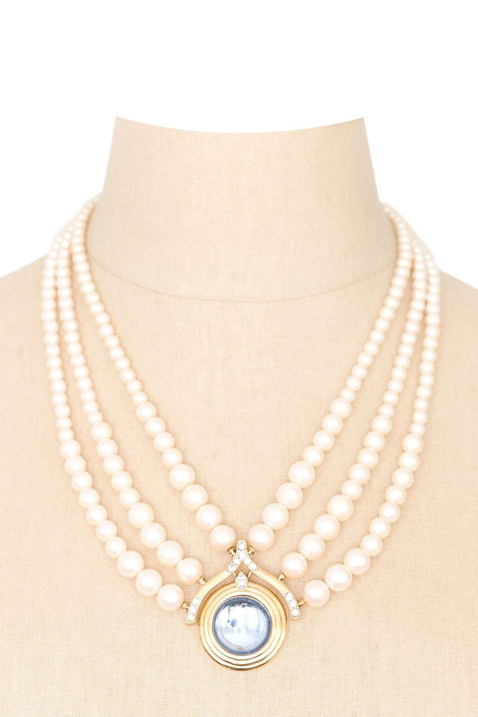 80's__Monet__Statement Pearl Necklace