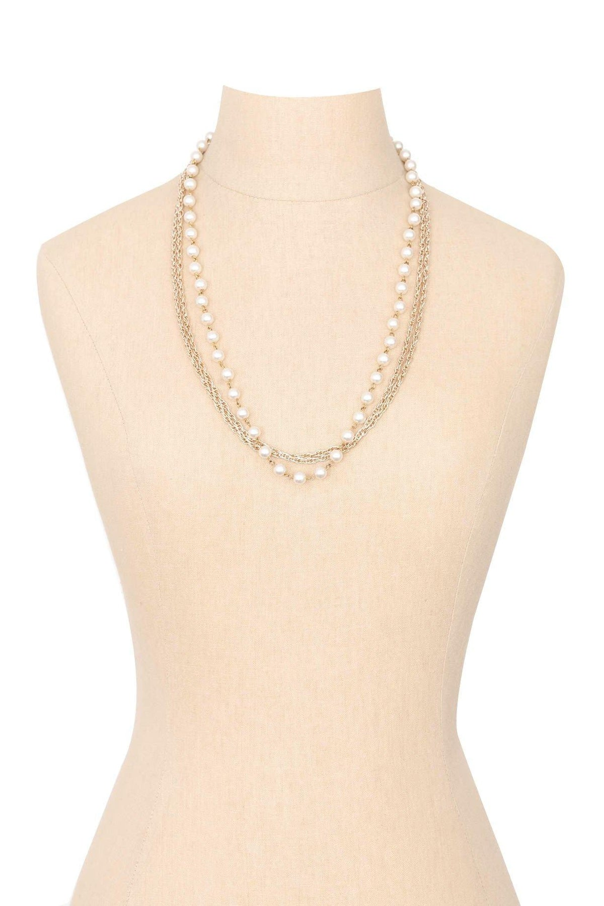 50's Vintage Multi-Chain Pearl Necklace