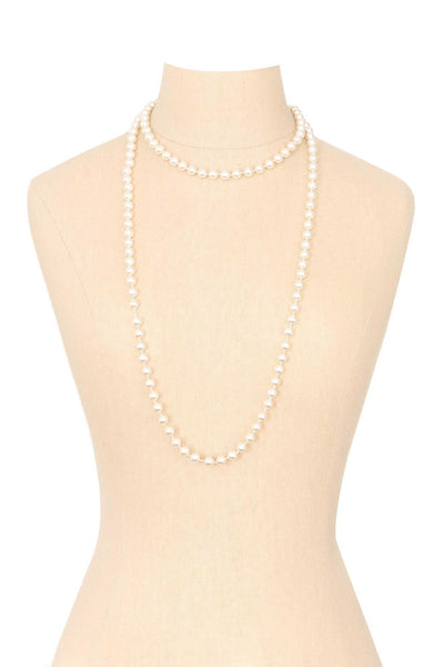 50's__Vintage__Long Pearl Necklace