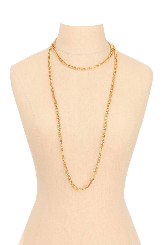 70s__Trifari__Gold Chain Necklace