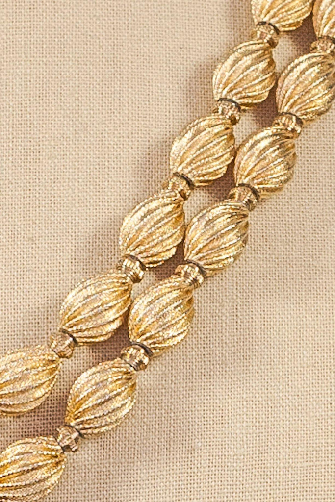 60s__Monet__Textured Gold Necklace