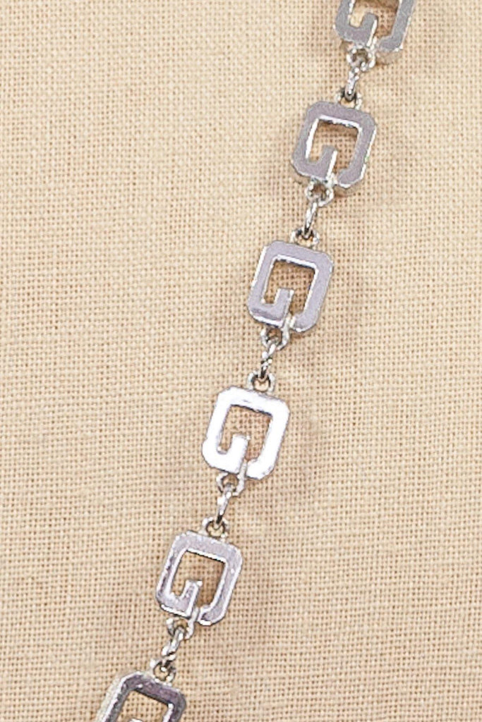 80's__Givenchy__Geometric Chain Necklace