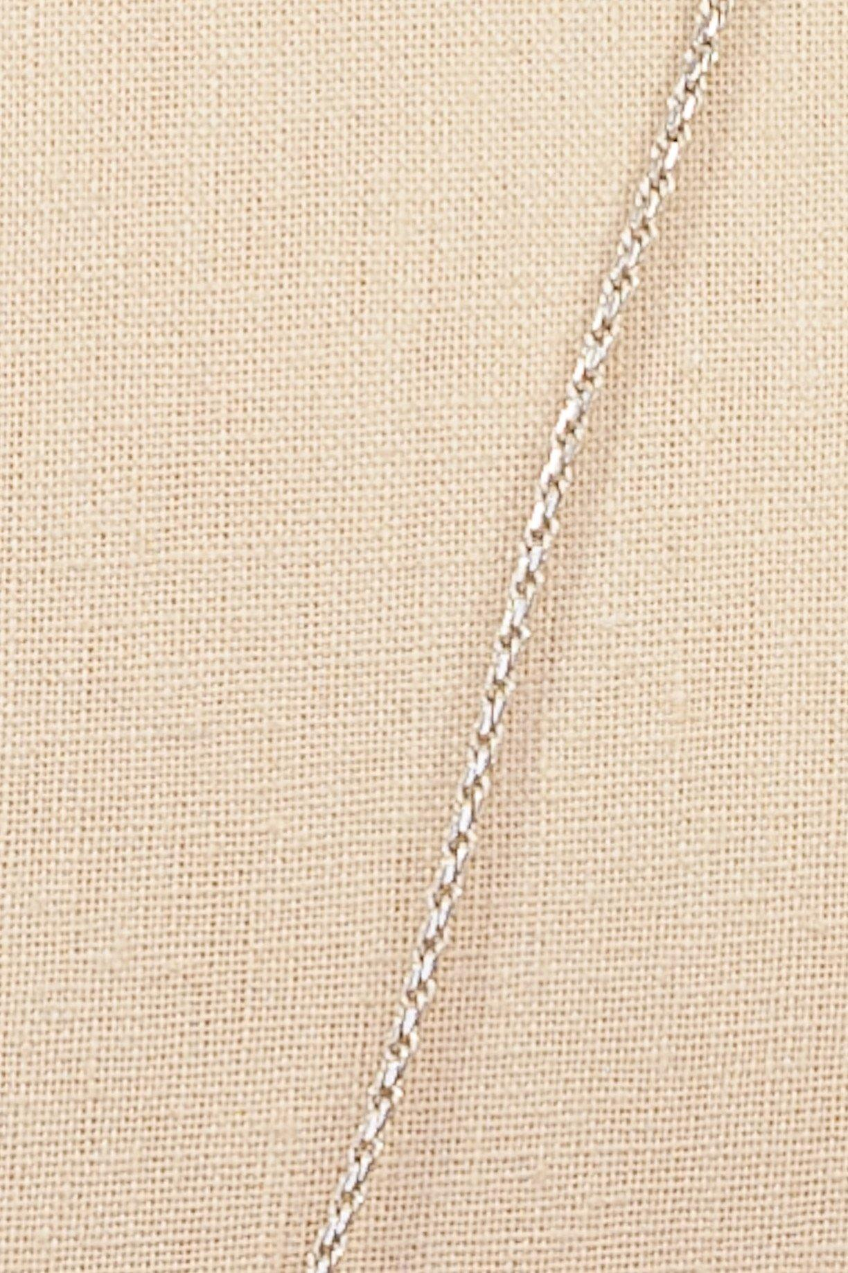 80's__1928__Silver Chain Necklace