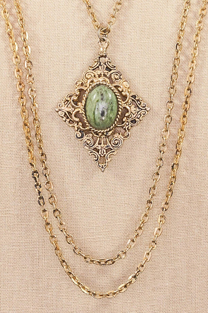 60's__Vintage__Multichain Pendant Necklace