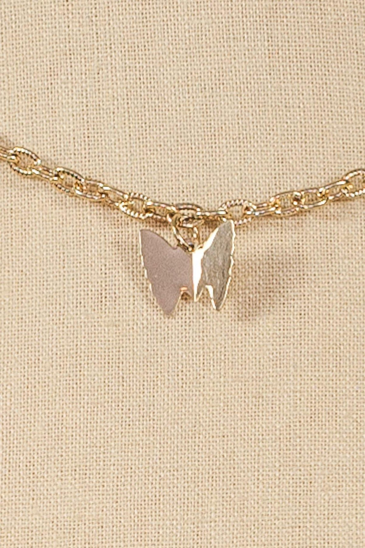 70's Sarah Coventry Butterfly Charm Layering Necklace