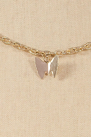 70's__Sarah Coventry__Butterfly Charm Layering Necklace