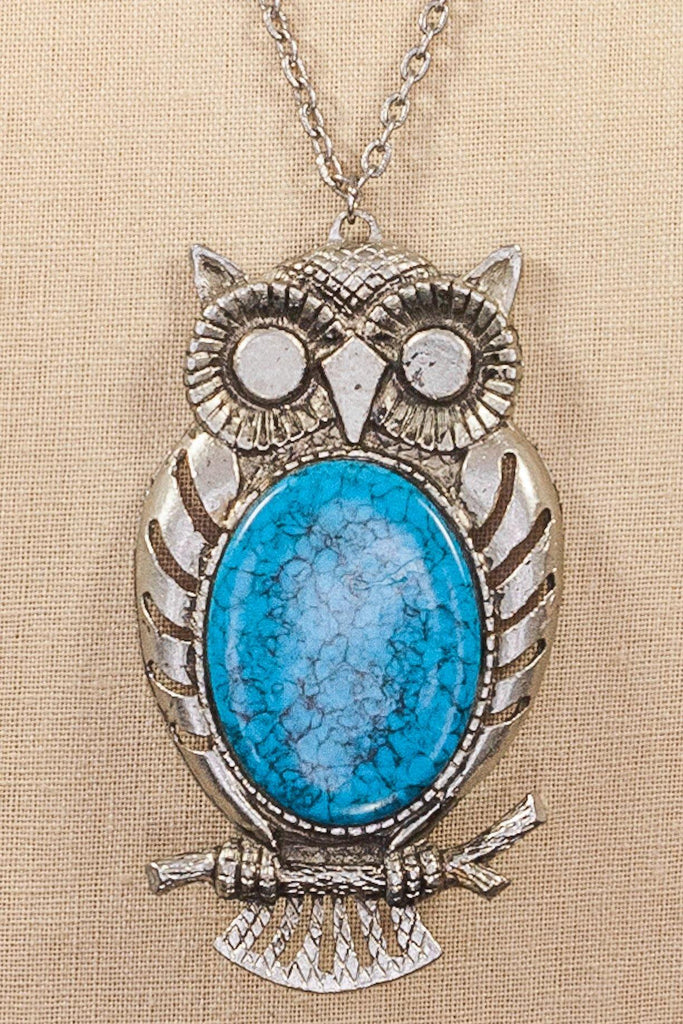 80's__Vintage__Owl Pendant Necklace