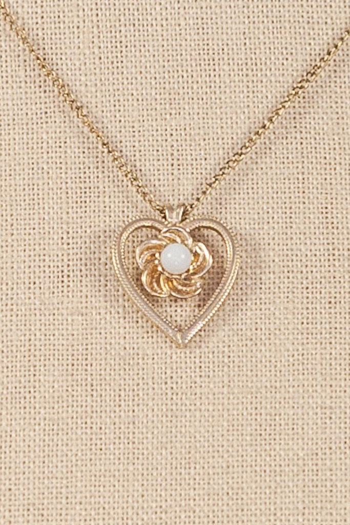 50's__DEC__Heart Pendant Necklace
