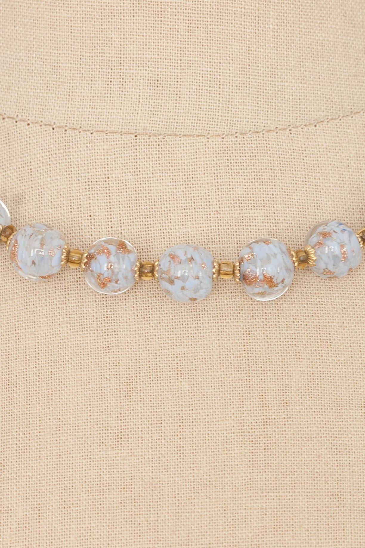 50's__Vintage__Glass Bead Necklace