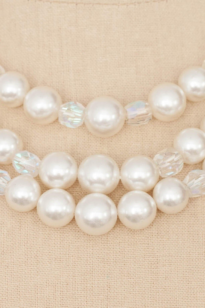 50s__Vintage__Multi-Strand Pearl Necklace