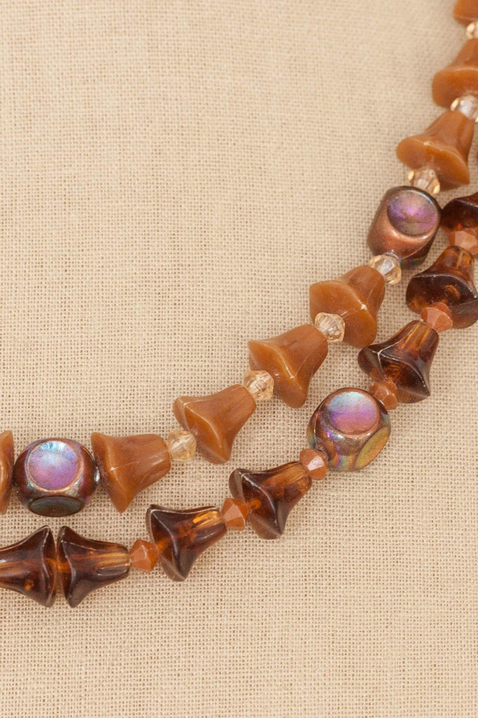 80's__Vintage__Beaded Multichain Necklace