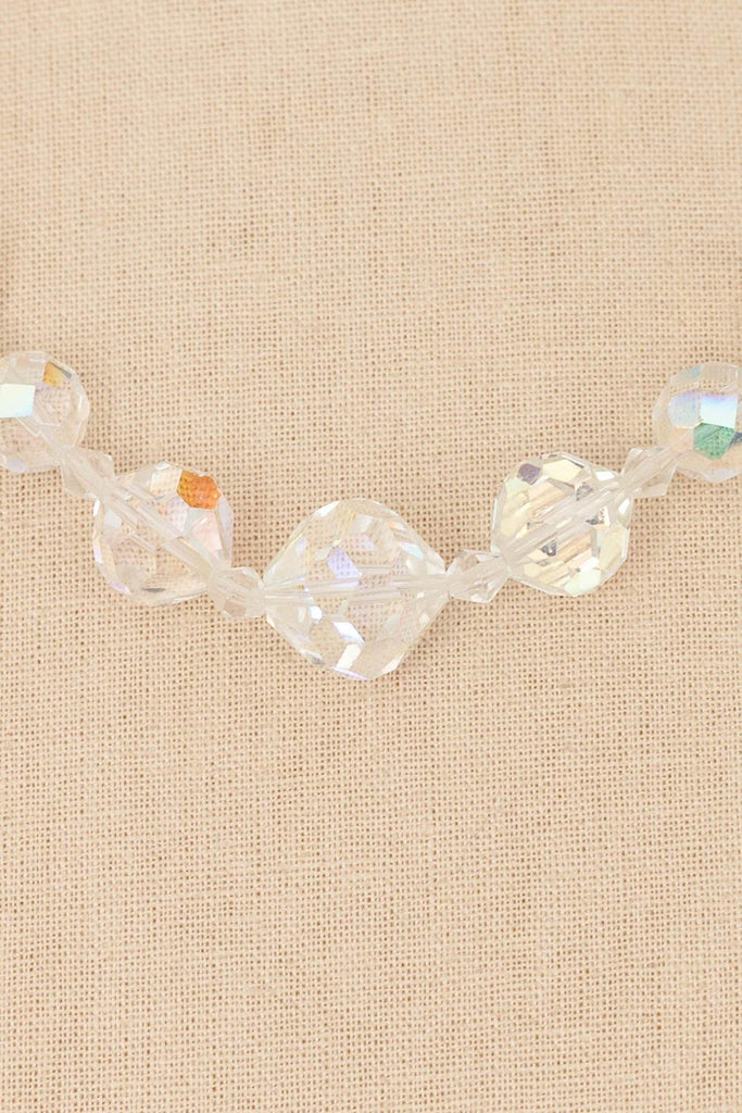 50's__Vintage__Iridescent Beaded Necklace
