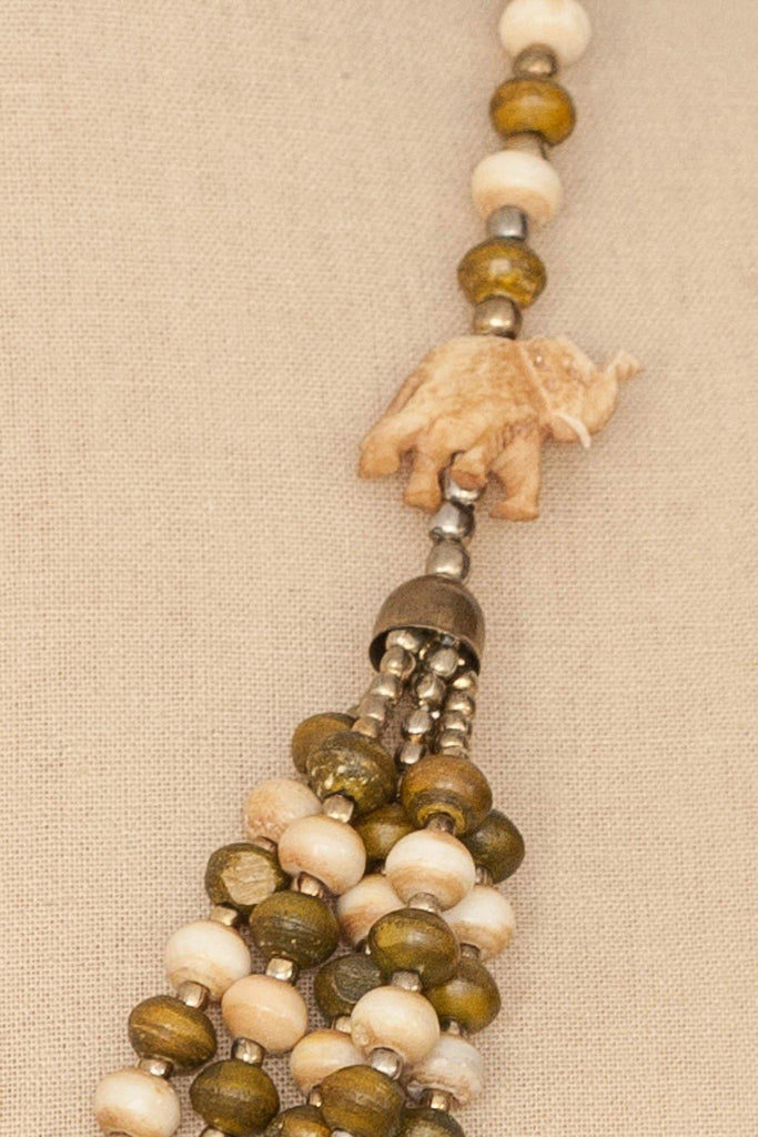 70's__Vintage__Wooden Beaded Necklace