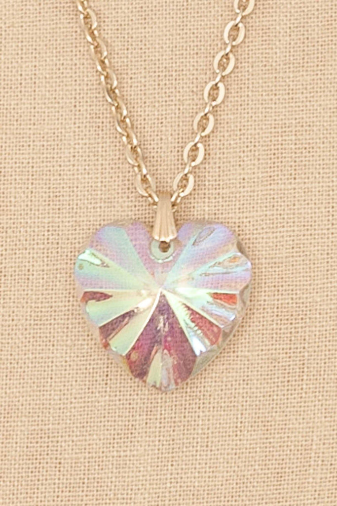60's__Vintage__Heart Pendant Necklace